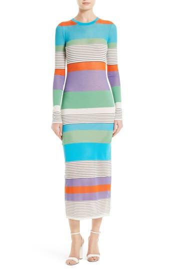 Diane Von Furstenberg Colorblock Knit Midi Dress