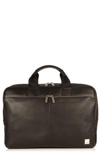 Knomo London Brompton Newberry Leather Briefcase - Black