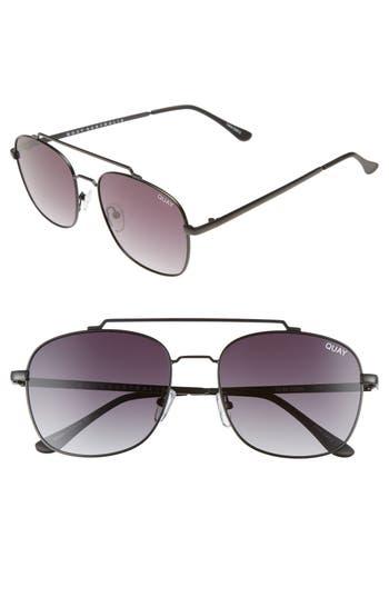 Quay Australia To Be Seen 5m Aviator Sunglasses - Black Smoke
