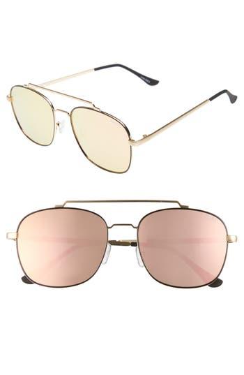 Quay Australia To Be Seen 5m Aviator Sunglasses - Gold/ Pink