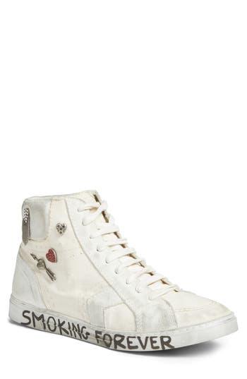 SAINT LAURENT Men'S  Antibe Sneaker in White
