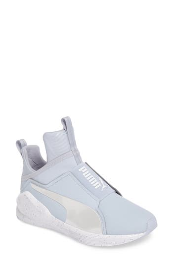 Puma Fierce Bleached High Top Sneaker- Blue
