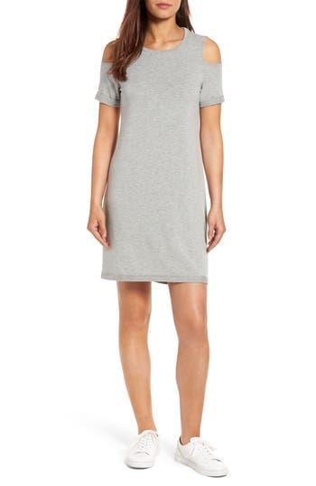 Caslon Cold Shoulder Shift Dress, Grey