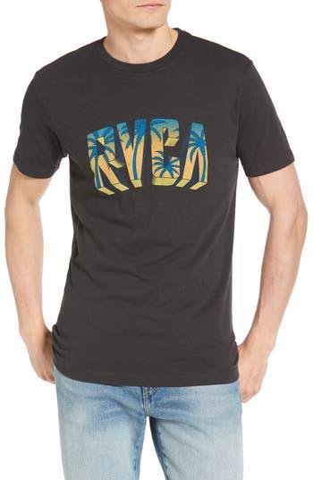 Rvca Block Graphic T-Shirt, Black