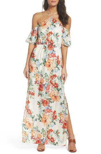 Women's Charles Henry Cold Shoulder Blouson Dress