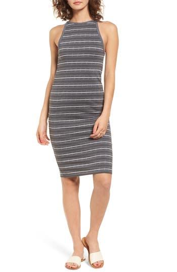 Obey Tuesday Stripe Dress, Grey