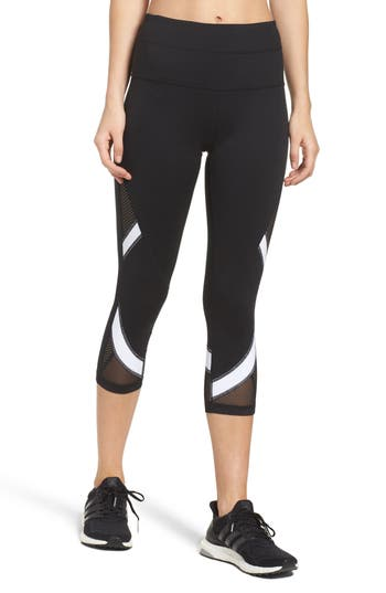 Mesh-Up High Waist Crop Leggings
