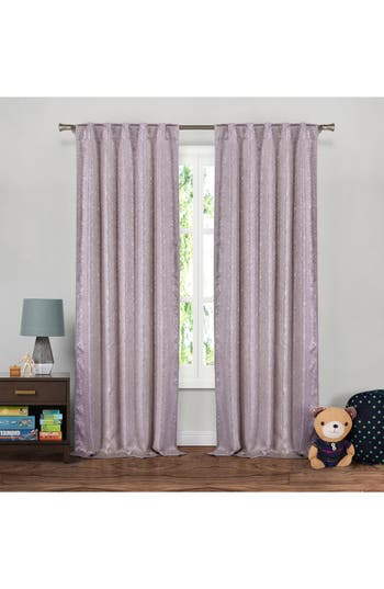 Lala + Bash Maddie Metallic Blackout Window Panels, Size One Size - Purple