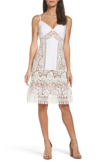 French Connection Shaka Lace Dress, White