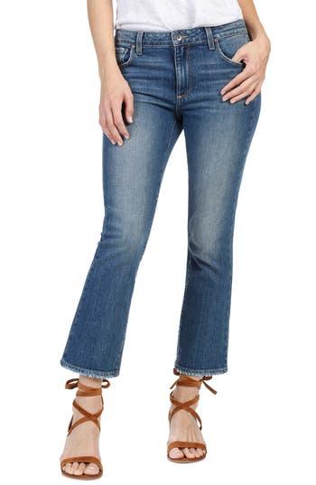 Paige Colette High Waist Crop Flare Jeans, Blue