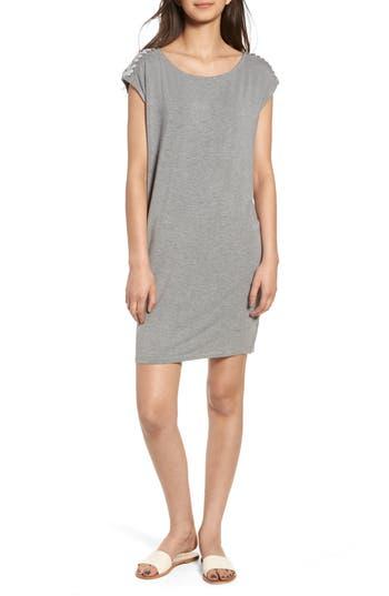 Splendid Lace-Up Shoulder Shift Dress