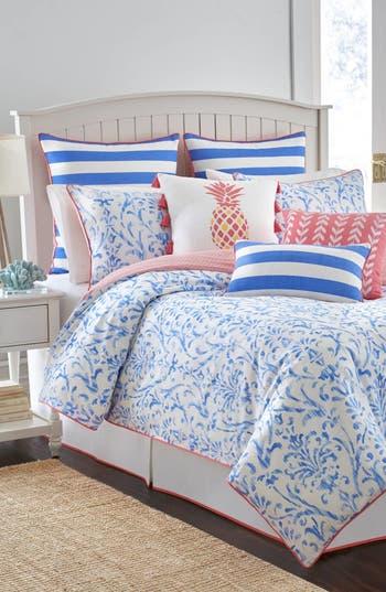 Southern Tide Coastal Ikat Comforter, Sham & Bed Skirt Set, Size King - Blue