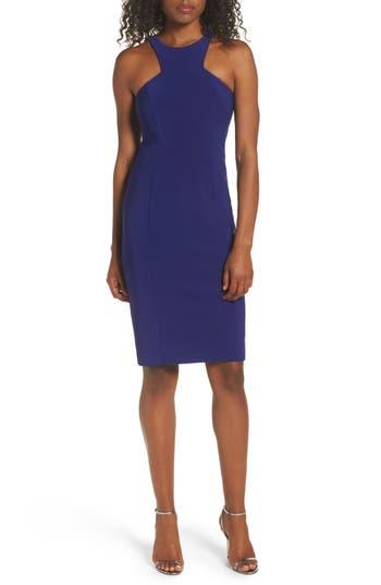 Xscape Stretch Sheath Dress, Blue