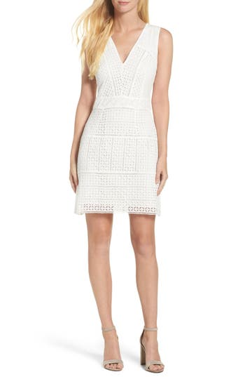 French Connection Summer Cage Lace Sheath Dress