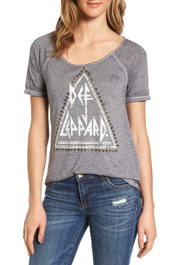 Lucky Brand Def Leppard Graphic Tee, Grey