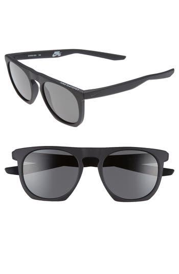 Nike Flatspot 52Mm Sunglasses - Matte Black/ Deep Pewter