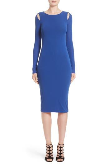 Fuzzi Cutout Tulle Dress, Blue