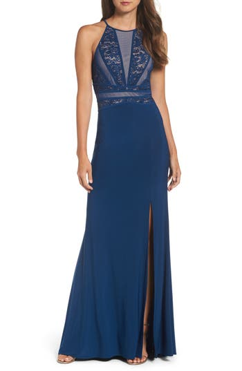 Morgan & Co. Embellished Gown, /2 - Blue