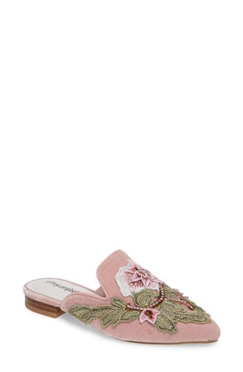 Jeffrey Campbell Claes Applique Loafer Mule, Pink