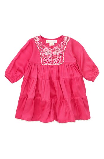 Infant Girl's Masalababy Gypsy Rose Dress, Size 3-6M - Pink