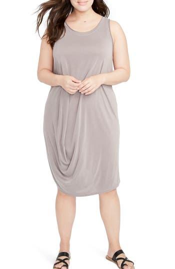 Plus Size Rachel Rachel Roy Drape Front Shift Dress, Beige