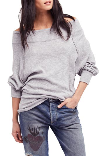 Free People Palisades Off The Shoulder Top, Grey