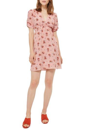 Topshop Kate Floral Tea Dress, US (fits like 14) - Pink