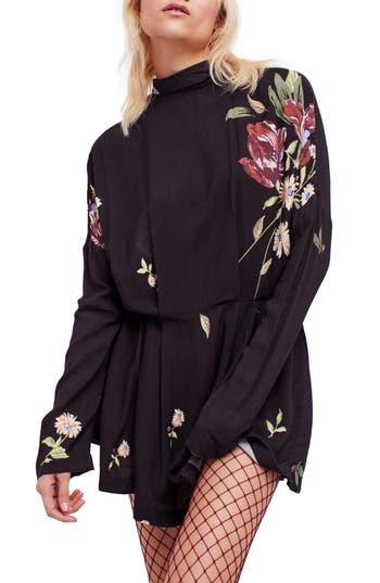 Free People Gemma Minidress, Black