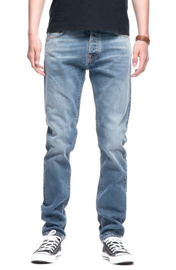 Nudie Jeans Fearless Freddie Slim Straight Leg Jeans, Blue