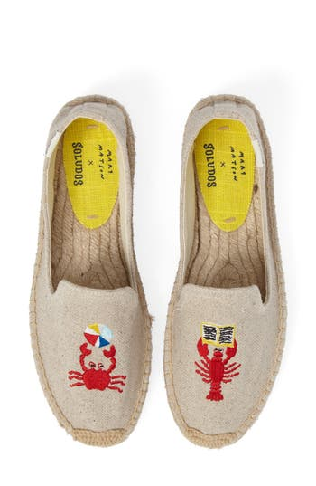 Soludos X Mary Matson Lobster & Crab Platform Espadrille