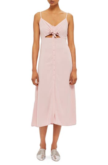 Topshop Knot Front Slipdress, US (fits like 0) - Pink