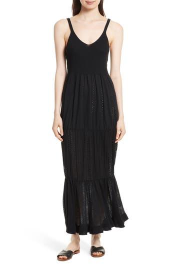 Women's La Vie Rebecca Taylor Knit Maxi Dress, Size X-Small/Small - Black