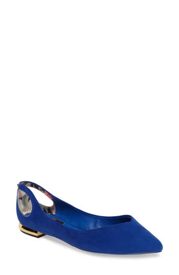 Ted Baker London Dabih Pointy Toe Flat, Blue