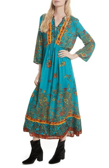 Free People If You Only Knew Peasant Dress, Green