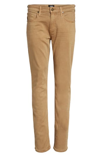 Paige Transcend - Federal Slim Straight Fit Jeans, Beige
