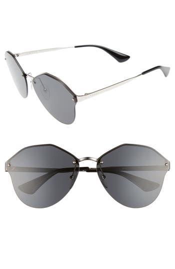 Women's Prada 66Mm Oversize Rimless Sunglasses - Grey Gradient