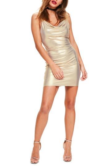 Missguided Body-Con Dress, US / 8 UK - Metallic