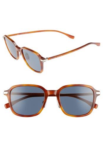 Men's Boss 0909S 51Mm Sunglasses - Light Havana/ Blue