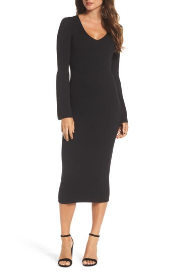 French Connection Virgie Knits Midi Dress, Black