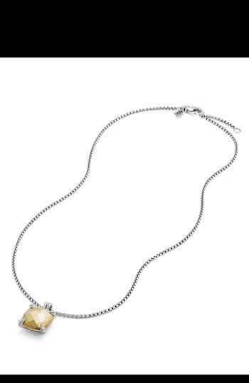 Women's David Yurman Châtelaine Pendant Necklace With Diamonds