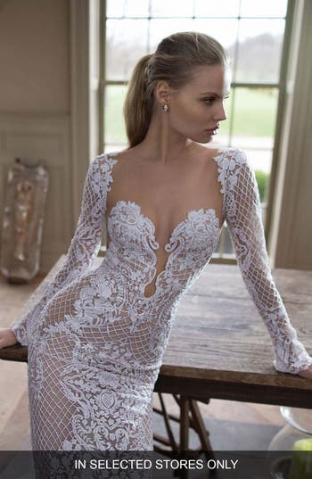 Berta Illusion Mermaid Gown