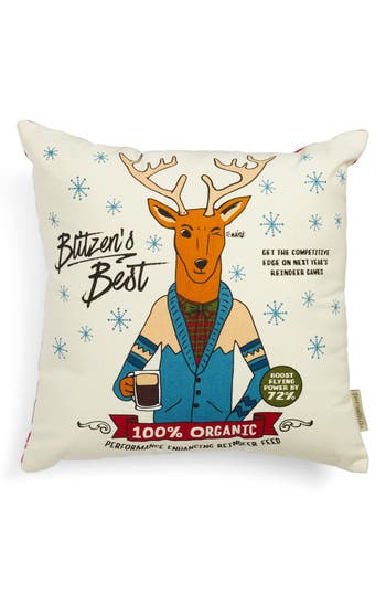 Primitives By Kathy Christmas Deer Accent Pillow, Size One Size - Brown