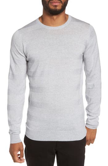 John Smedley Standard Fit Merino Wool Sweater, Grey