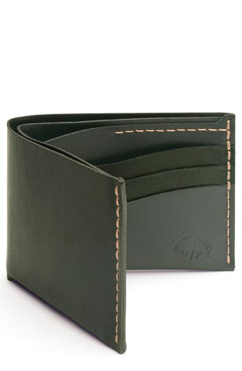 Ezra Arthur No. 8 Leather Wallet - Green