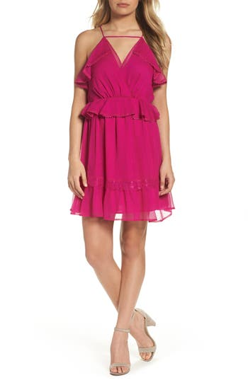 Adelyn Rae Ruffle Minidress, Pink