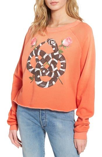 Women's Wildfox Snake Charmer Monte Crop Sweatshirt