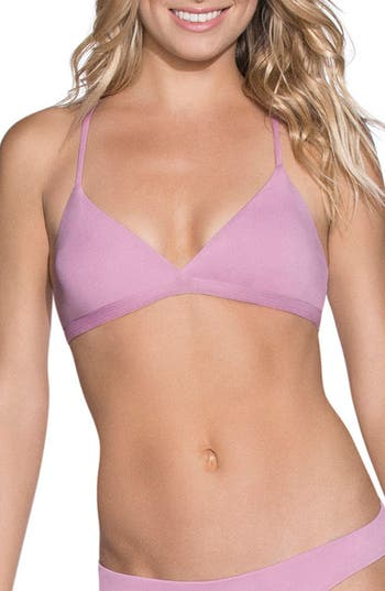 Maaji Mauve Bliss Reversible Triangle Bikini Top, Purple