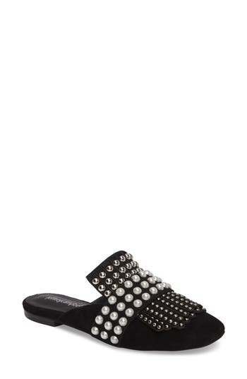 Jeffrey Campbell Ravis Embellished Loafer Mule, Black