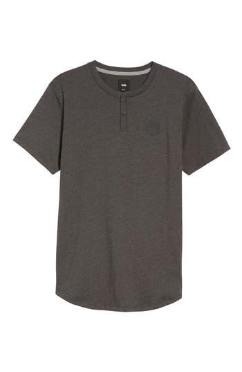 Vans Hitson Ii Logo Henley T-Shirt, Grey
