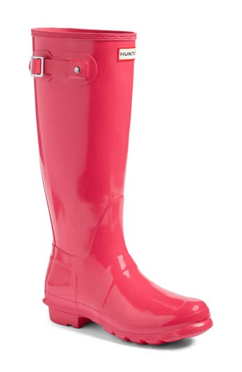 Hunter Original High Gloss Boot, Pink